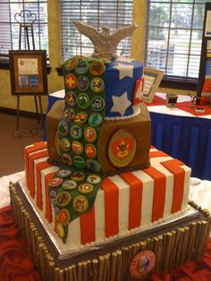 Eagle Scout Cake -- Not going to happen, but so cool!