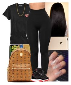 """Untitled #820"" by msixo ❤ liked on Polyvore featuring True Religion, MCM and Linda Lee Johnson"