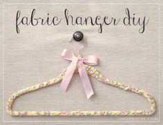 DIY Hangers : DIY Fabric Hanger