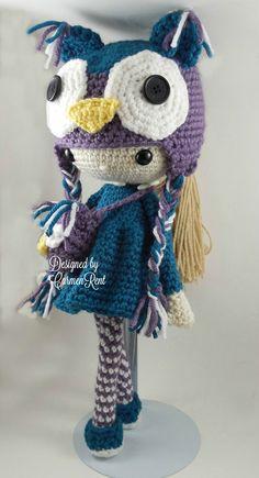 ❤ Claire Amigurumi Doll Crochet Pattern by CarmenRent on Etsy