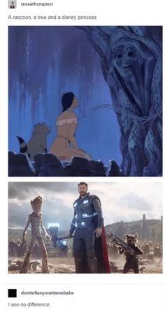 Love Marvel Check out our Sortable Avengers Fanfiction Rec Funny Disney Jokes, Funny Marvel Memes, Dc Memes, Marvel Jokes, Avengers Memes, Disney Memes, Funny Disney Princesses, Thor Meme, Pocket Princesses