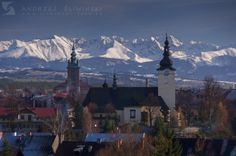 Nowy Targ with the Tatra Mountains on the background. Tatra Mountains, Mount Everest, Travelling, City, Places, Nature, Pictures, Naturaleza, Cities