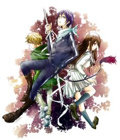 Yato, Yukine, and Hiyori // Noragami
