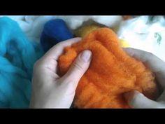 Felt Flowers, Handmade Crafts, Wool, Youtube, Painting, Wet Felting, Wool Felting, Felt, Felting