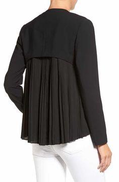 Alternate Image 3 - Trouvé Pleat Back Jacket Hijab Fashion, Girl Fashion, Fashion Dresses, Plus Fashion, Fashion Design, Blouse Styles, Blouse Designs, Nordstrom, Coats For Women