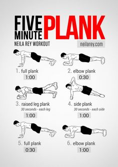 Five Minute Plank Workout on Inspirationde