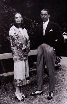 Tamara and her husband, 1918-23...Tamara Łempicka, also known as Tamara de Lempicka, was a Polish painter active in the 1920s and 1930s, who spent her working life in France and the United States.