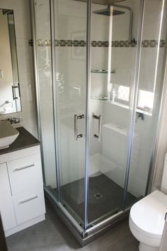Torquay Square Sliding Shower Screen 900 x 900 Bathroom Renovations Thornlie Bat. Torquay Square Sliding Shower Screen 900 x 900 Bathroom Renovations Thornlie Bathroom Renovators Th Small Shower Room, Small Bathroom Layout, Small Showers, Bathroom Ideas, Sliding Shower Screens, Tiny Bathrooms, Bathroom Design Luxury, Bathroom Renovations, Remodeling Ideas