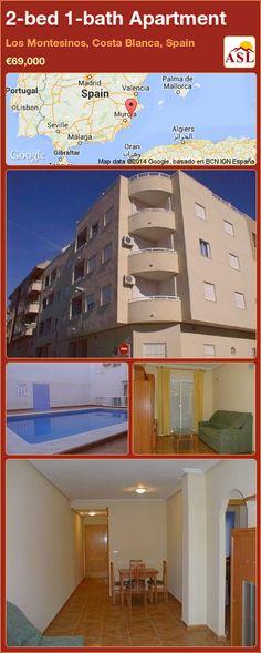 2-bed 1-bath Apartment in Los Montesinos, Costa Blanca, Spain ►€69,000 #PropertyForSaleInSpain