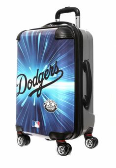 """Los Angeles Dodgers, 21"""" Clear Poly Carry-On Luggage by Kaybull"""