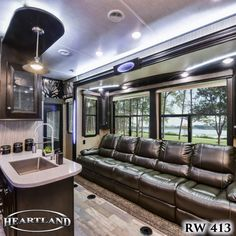 Take a quick tour of the 2018 Road Warrior This luxurious wheel toy hauler features a garage, 2 full baths, and a huge bedroom.