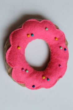 To Celebrate National Doughnut Day, we're bringing you this thoroughly sweet #DIY doughnut pin cushion!