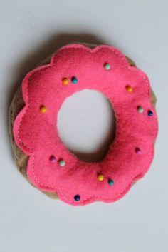 To Celebrate National Doughnut Day, we're bringing you this thoroughly sweet #DIY doughnut pin cushion!
