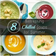 weather too hot for soup? check out these 8 refreshing chilled soups. Healthy Summer Recipes, Clean Recipes, Soup Recipes, Cooking Recipes, Healthy Nutrition, Healthy Habits, Healthy Eating, Healthy Soup, Healthy Foods