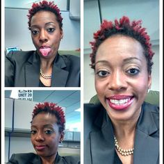 tialuck - Rocks her TWA with sass and color!