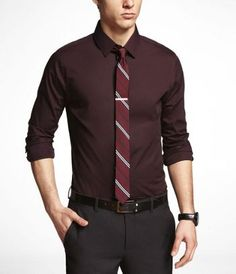 1MX EXTRA SLIM FIT STRETCH COTTON SHIRT at Express