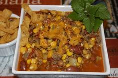 Giff's Taco Soup I usually cook this on Sundays before a Saints game. It's a crowd favorite -- the ladies love it! A visitor posted that this soup freezes really well! Cajun Recipes, Mexican Food Recipes, New Recipes, Crockpot Recipes, Soup Recipes, Dinner Recipes, Cooking Recipes, Favorite Recipes, Ethnic Recipes