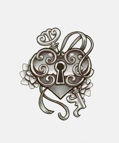deviantART: More Like heart locket tattoo design by *charlotte-lucyy – - enscompass. Key Drawings, Tattoo Drawings, Trendy Tattoos, Popular Tattoos, Compass Tattoo, Locket Tattoos, Rosary Tattoos, Bracelet Tattoos, Crown Tattoos