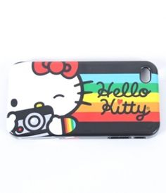 Hello Kitty With Camera Iphone 4 Case