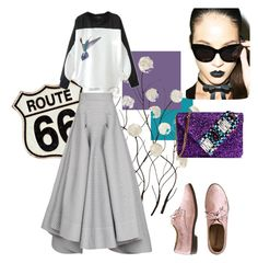 """""""Route 66"""" by dariadakiny ❤ liked on Polyvore featuring Universal Lighting and Decor, Chicnova Fashion, Maticevski, Cheap Monday and GEDEBE"""