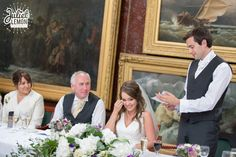 A special moment in the Picture Gallery at Royal Holloway.