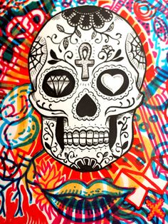 Hand Pencil Drawing, Pencil Drawings, Sugar Skulls, Chicano, Cool Drawings, Victoria, Wallpapers, Ink, Tattoos