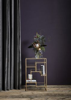 quirky gold side or bedside table available from Out There Interiors