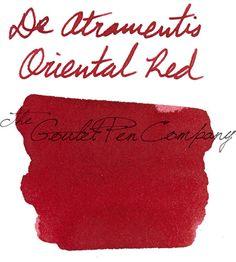 INK SAMPLE - De Atramentis Oriental Red