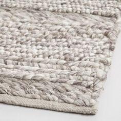 $600 Gray Chunky Sweater Wool Allegra Area Rug - v2