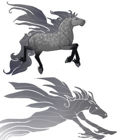 Ceffyl Dwr (Welsh) - Related to both the horse-like Kelpie and the Fae Mist elementals known as Brollachan, the Ceffyl Dwr is a horse monster that can turn itself into a misty form. Often using it's solid form to attract riders, then fly up into the sky and turn into mist so the rider falls to its death. They are known to devour their victims afterwards.