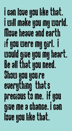 John Michael Montgomery - I Can Love You Like That - song lyrics, music lyrics, song quotes, music quotes, songs.I love this song :) Country Music Quotes, Country Music Lyrics, Country Songs, Country Life, Country Girls, John Michael Montgomery, I Love Music, Just For You, Love You