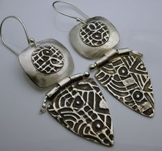 Hula Hinged Sterling Silver Earrings  Designs by by designsbysuzyn, $120.00