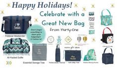 www.mythirtyone.com/sarahotto                              Be a VIP * www.facebook.com/groups/ToteAllyFUNctionalBagsWithSarah/