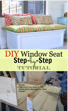 This DIY window seat is a simple project to keep you busy and will be the perfect place to take it easy.