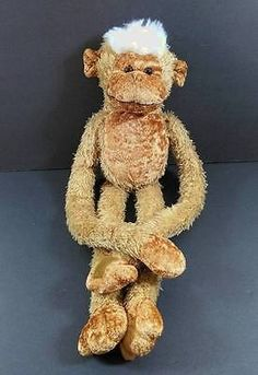 "22"" Brown Hanging MONKEY Floppy No sound Velcro Hands GOFFA Plush Toy B227"