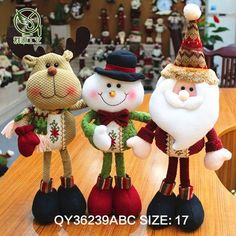 A piece 2015 Lovely Santa Claus Snowman Reindeer Christmas Decoration For Home Indoor Ornament Enfeites De Natal Decoration Christmas, Christmas Crafts For Gifts, Cheap Christmas, Xmas Decorations, Simple Christmas, Kids Christmas, Christmas Tree Ornaments, Reindeer Christmas, Merry Christmas