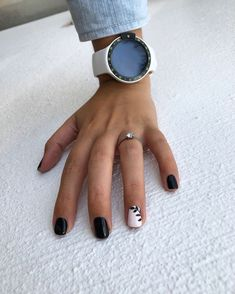 55 Acrylic Coffin Nail Designs to Try 2019 - Black leaf – botanical nails, nail art designs, nail designs, nail art, nail designs acrylic - Nail Art Designs, White Nail Designs, Acrylic Nail Designs, Acrylic Nails, Short Nail Designs, Simple Nail Designs, Nails Design, Black Nail Art, Black Nails