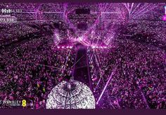 BTS breaks another impressive record for a Korean Artist.They became the Korean artist whose tour has the highest audience count. Concert Crowd, Bts Concert, Bts World Tour, Bts Twt, Wrong Number, London Tours, Wembley Stadium, Bts Love Yourself, Korean Artist