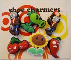 3b2461c3e Plants vs Zombies PVZ Shoe Charms 6 pc Set - Jibbitz Croc Style by Shoe  Charmers