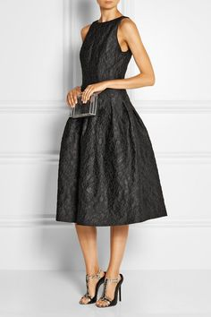 Halston Heritage | Jacquard midi dress | NET-A-PORTER.COM