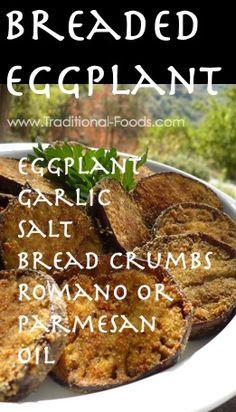 Breaded Eggplant @ Traditional-Foods.com