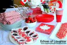 Canada Day Party - Echoes of Laughter Canada Day Party, Happy Canada Day, Canada 150, Pancake Day, Bbq Party, Long Weekend, Diy Craft Projects, 4th Of July, Laughter
