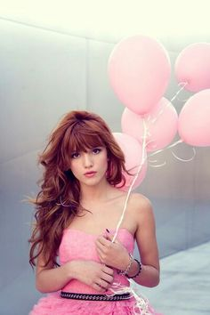 Thick bangs & long layers... Love this hair wish red wasnt so hard to maintain.