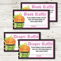 Halloween Diaper Raffle Ticket Printable By Thatpartychick
