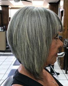 50 Gray Hair Styles Trending in 2020 - Hair Adviser Grey Bob Hairstyles, Hairstyles Over 50, Straight Hairstyles, Scene Hairstyles, Long Haircuts, Modern Haircuts, Grey Hair Styles For Women, Medium Hair Styles, Short Hair Styles