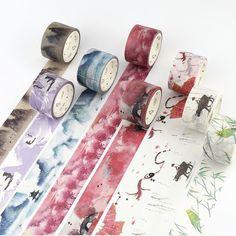30mm x 7 m Decorativo cintas adhesivas De Papel washi cinta Adhesiva cinta Scrapbooking Decoraciones Pegatinas de cinta de Papel Washi Japonés