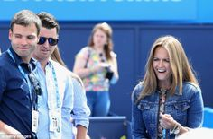 Kim Sears looks happy with Andy Murray's new choice of coach #dailymail