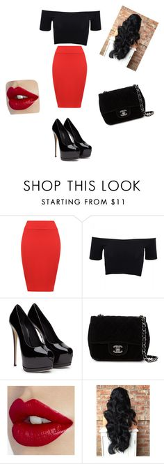 """""""my offit ~~~`"""" by clears ❤ liked on Polyvore featuring WearAll, American Apparel, Chanel, women's clothing, women, female, woman, misses and juniors"""