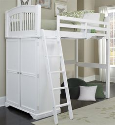 Loft Bed in White