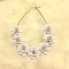 floral statement necklace floral statement necklace - jcrew inspired that sells for almost $140 - worn 1x Jewelry Necklaces
